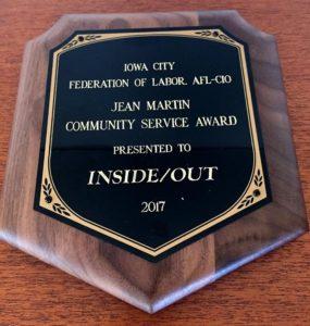 Jean Martin Community Service Award 2017